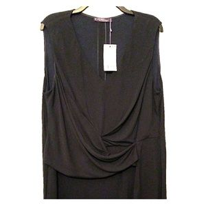 Violeta by Mango Front Ruched Tunic Top